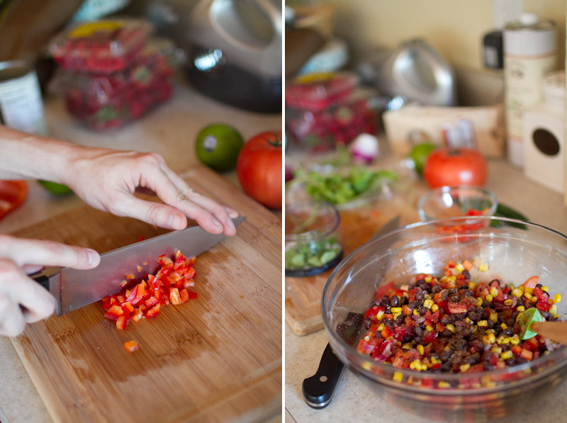 Sunday Afternoon Baking:  Tilapia and Black Bean Salsa